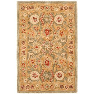 Handmade Mahal Sage/ Ivory Wool Rug (2' x 3') | Overstock.com Shopping - Great Deals on Safavieh Accent Rugs