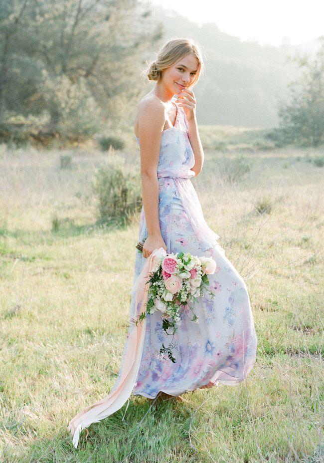 Fl Pastel Print Bridesmaids Dresses