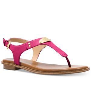 6ef62b2f6d6 Michael Michael Kors Mk Plate Flat Thong Sandals - Pink 7.5M