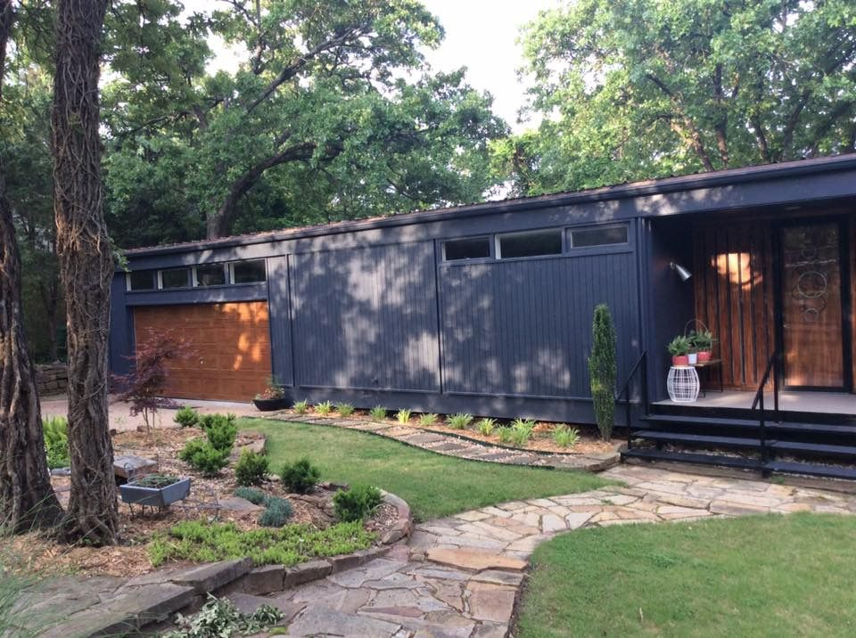 Sherwin Williams Cyberspace Great Midcentury Exterior Paint Color