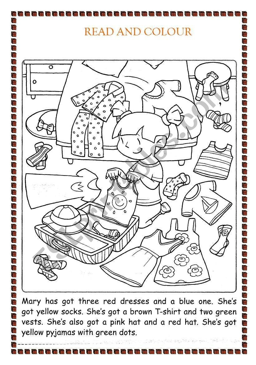 Colour The Clothes Worksheet English Lessons For Kids English Lessons English Activities [ 1169 x 821 Pixel ]