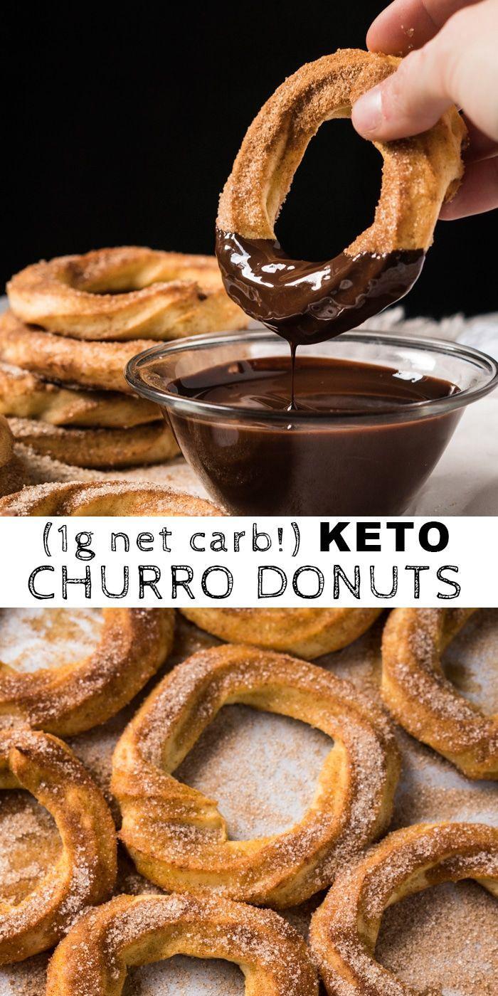 (1g net carb!) Gluten Free & Keto Churro Donuts #keto #ketorecipes #ketodiet #glutenfree #lowcarb