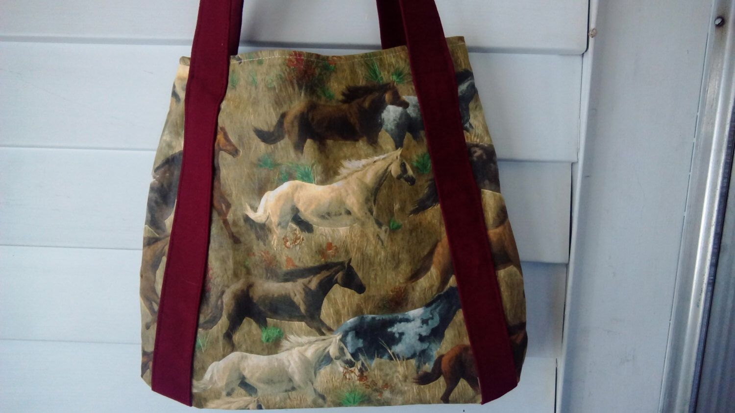 A personal favorite from my Etsy shop https://www.etsy.com/listing/271071259/running-horses-market-bag