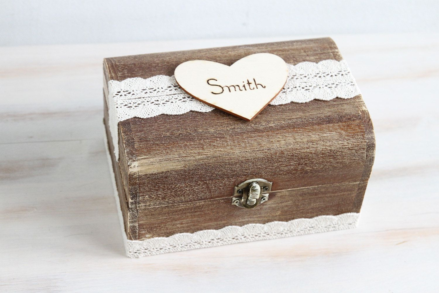 Rustic Wedding Card Box Wedding Card Holder Wooden Keepsake Box