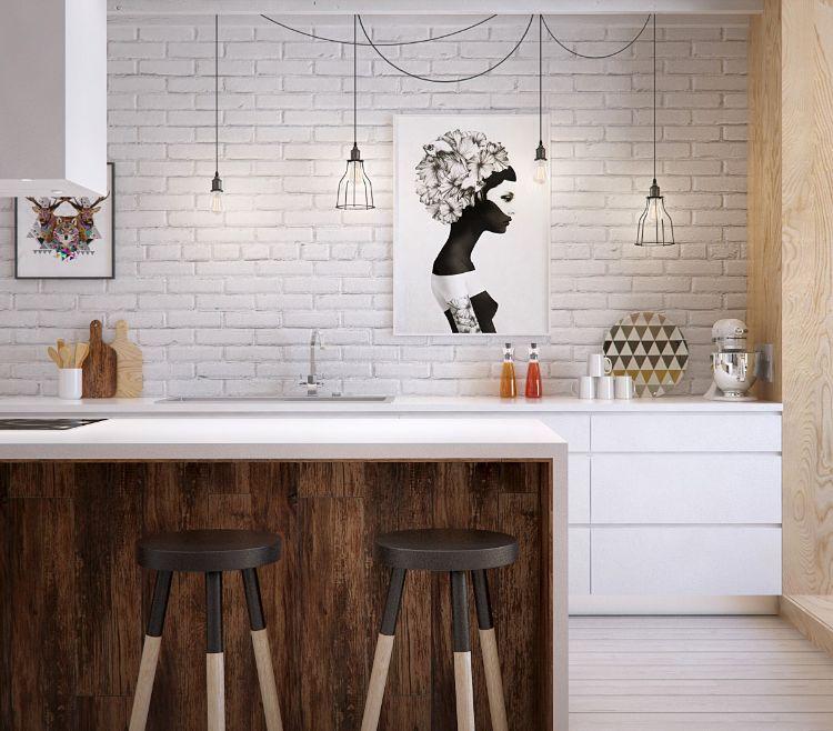 Cuisine bois et blanc moderne \u2013 25 idées d\u0027aménagement Room