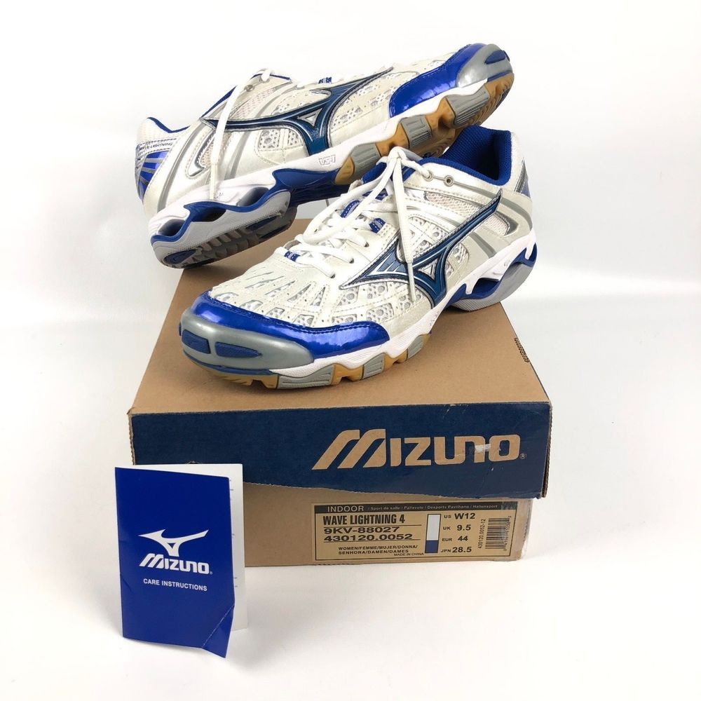 Mizuno Womens Shoes New Indoor Volleyball Wave Lightning 4 Size 12 Blue White Mizuno Volleyballshoes Volleyball Shoes Size 12 Women Shoes Indoor Volleyball