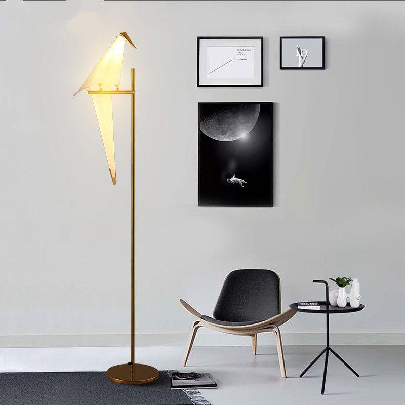 Modern Nordic Bird Paper Cranes Floor Lamp For Bedroom Living Room