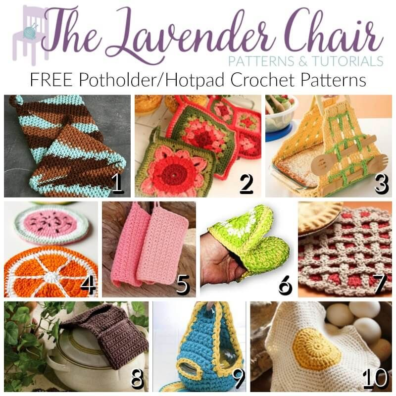 Potholder and Hotpad Crochet patterns are an awesome household item ...