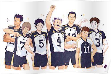 Fukurodani Poster By Azeher Haikyuu Haikyuu Anime Bokuto Koutarou