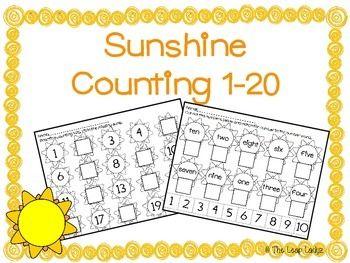 Sunshine Math Kindergarten Worksheets