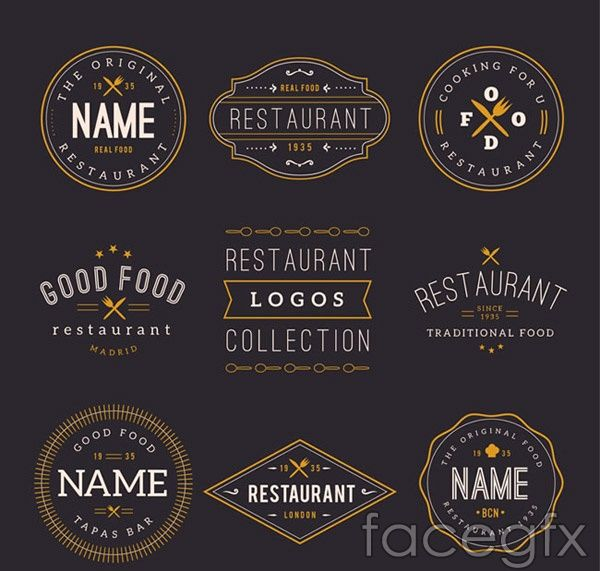Restaurant Logo Design Vector For Free Download With Images