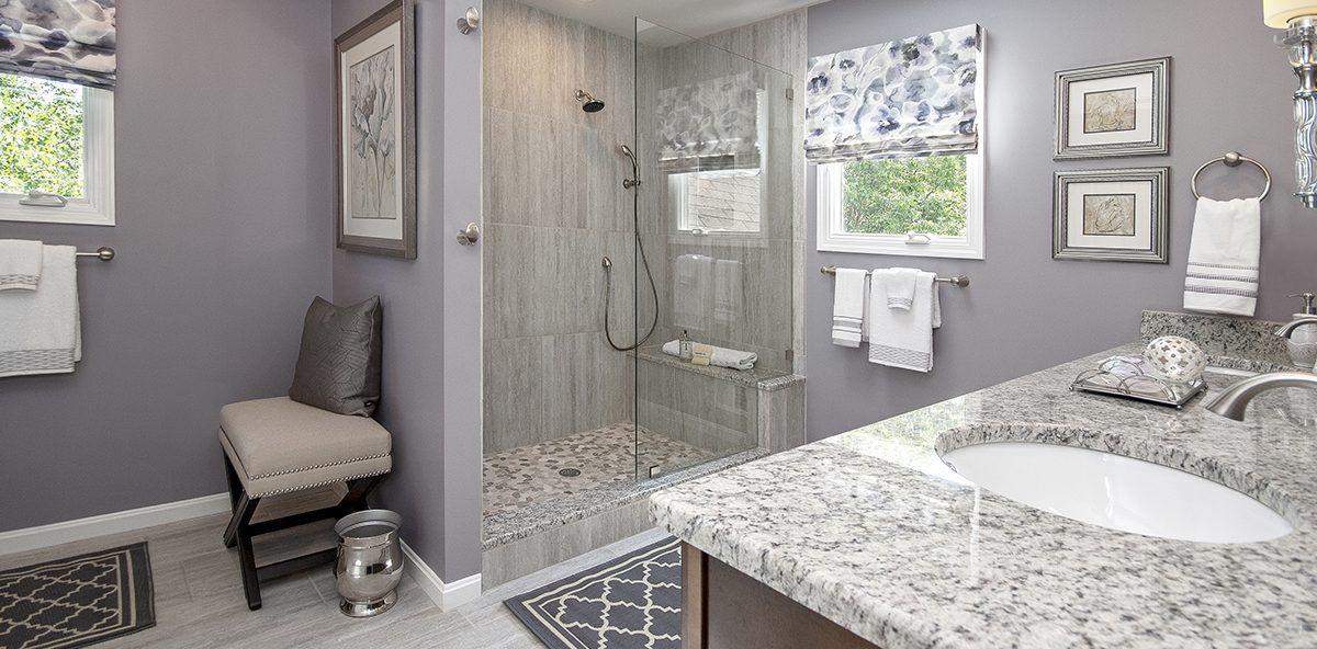 Soft Purple Bathroom - Decorating Den Interiors | Purple ...