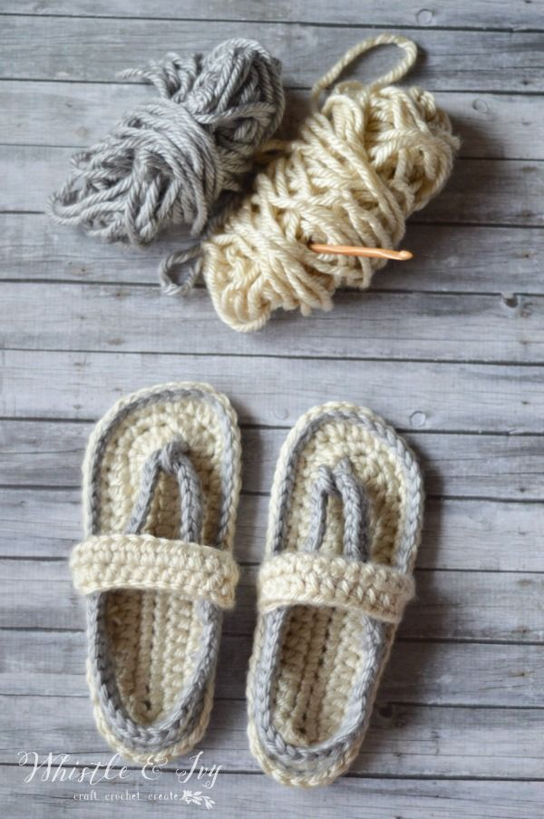79568b35f Free Crochet Pattern - Women s Strap Flip-Flops