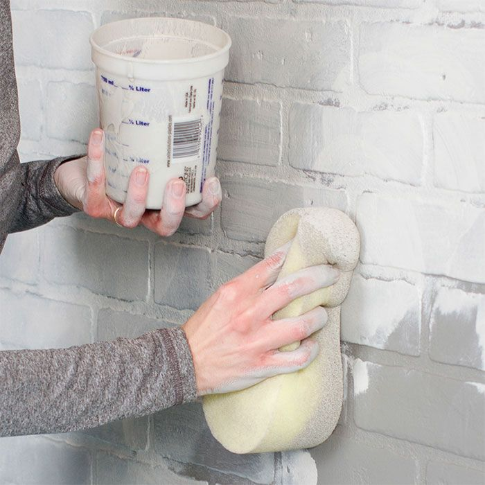 Lowes Brick Faux Paneling Enteryway Coat Accent Wall: Paint A Faux-Brick Wall. Sponge On The Top Coat.