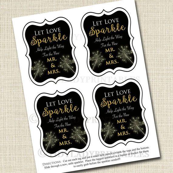 Sparkler Send Off Tag INSTANT DOWNLOAD Templett Let love shine Let Love Sparkle DIY Printable Decorations Light Em Up Card Editable