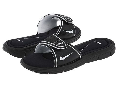 4c80fa2dcb9e Nike Comfort Slide Black White - Zappos.com Free Shipping BOTH Ways ...