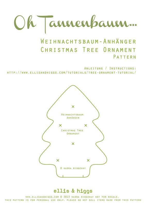 Tutorial: einen Weihnachtsbaum nähen | X mas | Pinterest ...