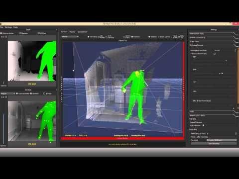 Kinect V2 Realtime Skeletal Tracking Demonstration With