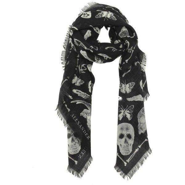 patterned scarf - Black Alexander McQueen zWDXAWN