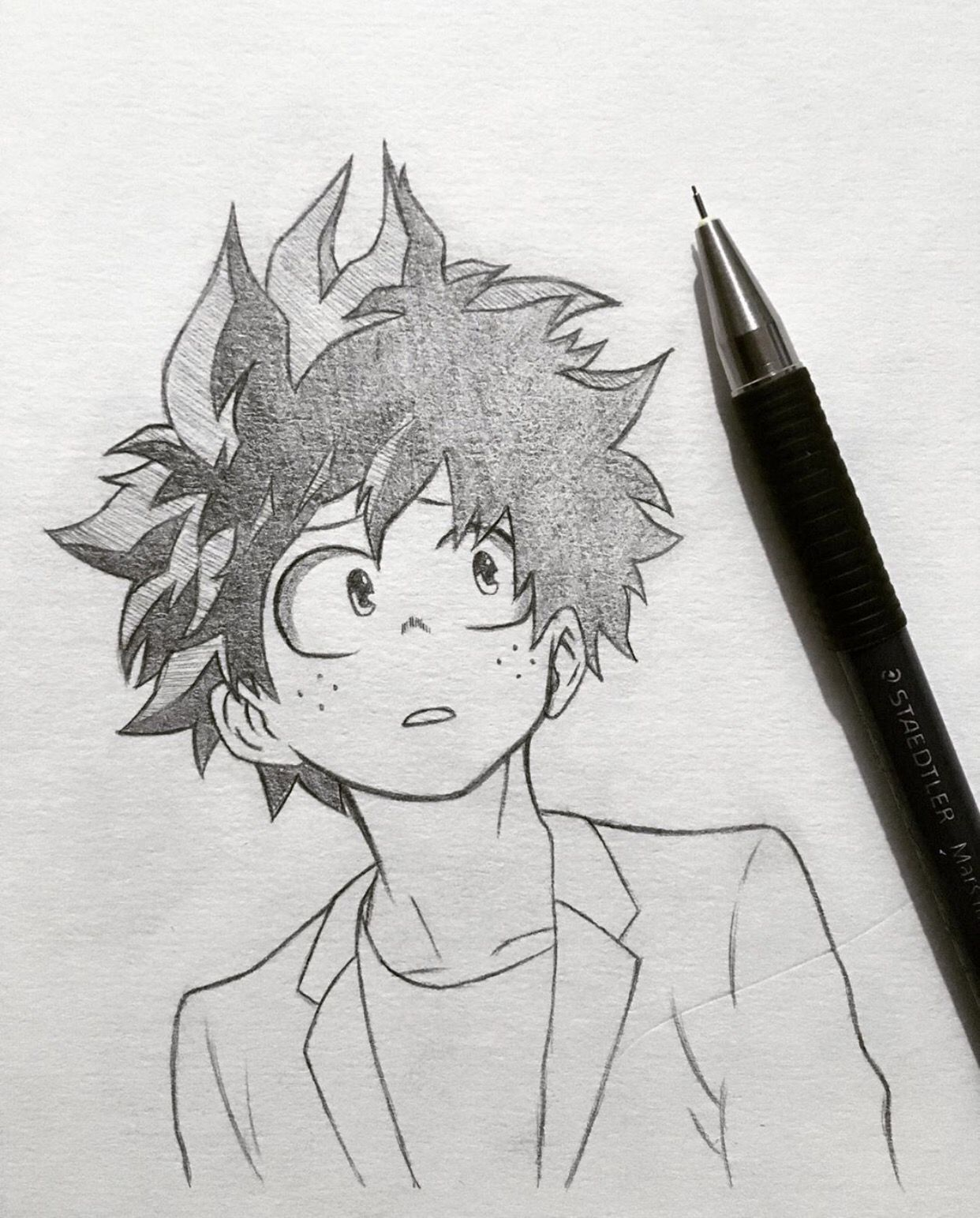 Deku By Infinity Draw Visit Our Website For More Anime And Animeart M Anime Character Drawing Anime Drawings Sketches Anime Boy Sketch