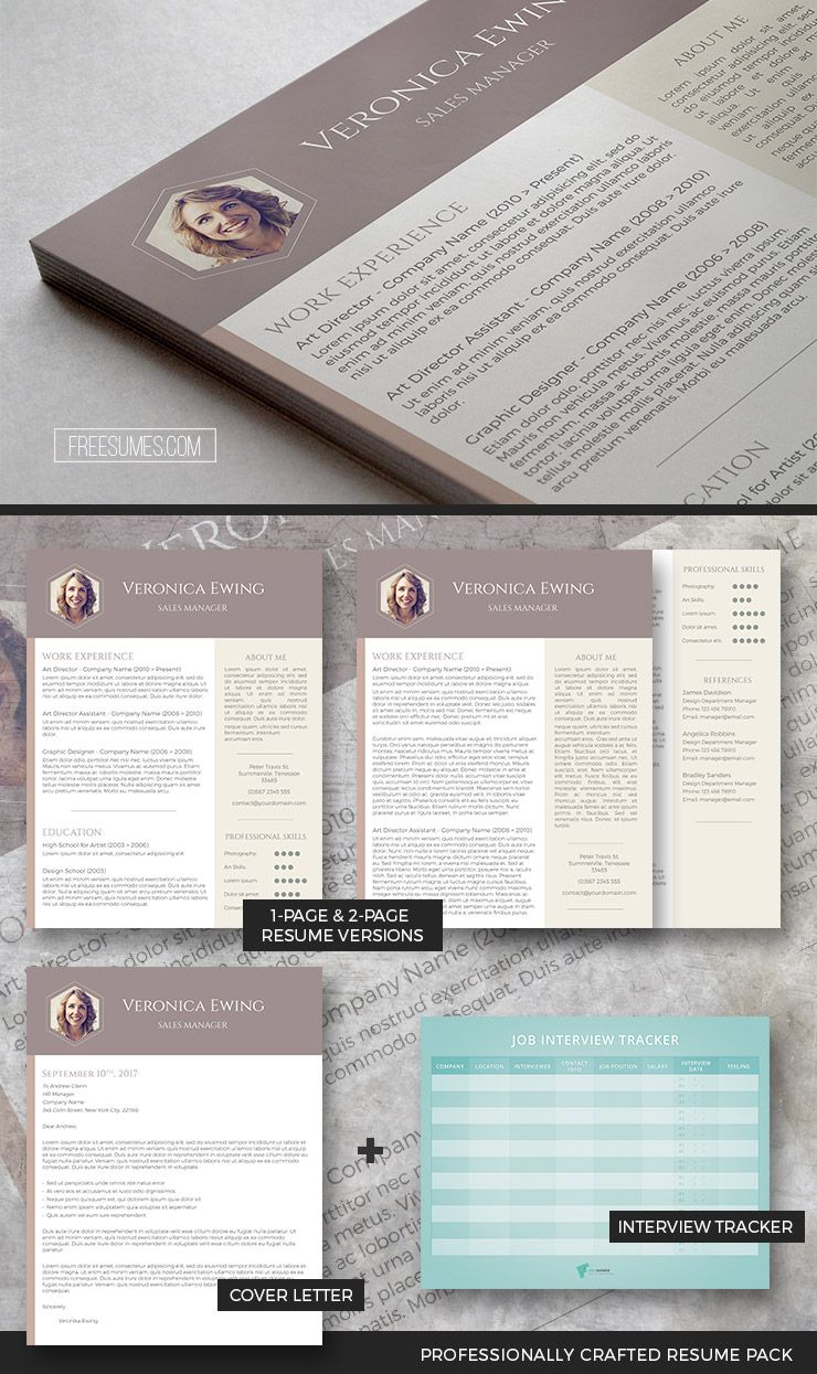 Professional Resume Template Set