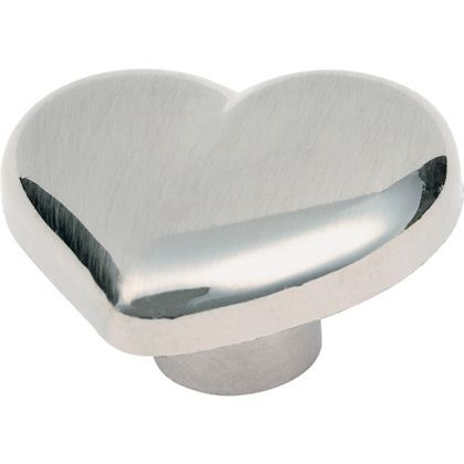 Heart Shaped Door Knob - Brushed Nickel Effect | home ideas ...