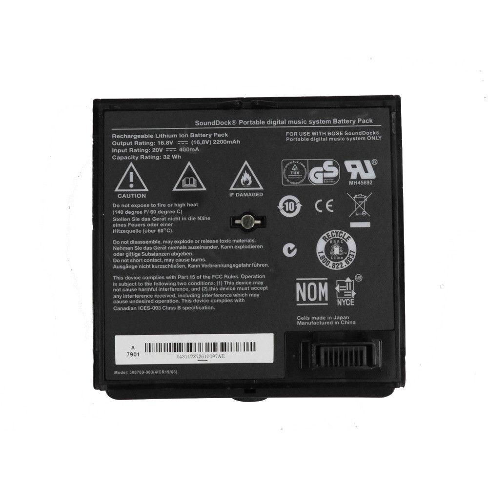 300769 003 Battery 400ma 2200mah 32wh 16 8v 20v Pack For Bose Sounddock Portable Digital Music System Battery Pack Sku Music System Laptop Battery Battery Pack