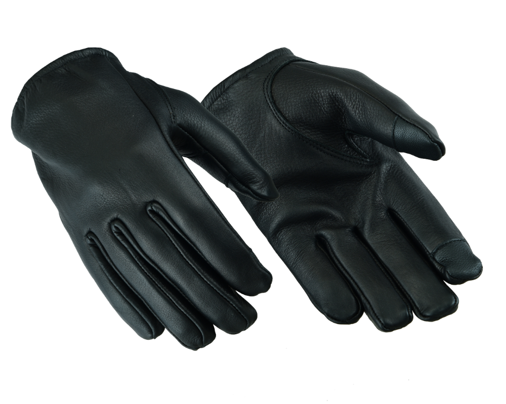 Mens Soft Fleece Lined Padded Sheepskin Leather Biker Driving Thermal Gloves