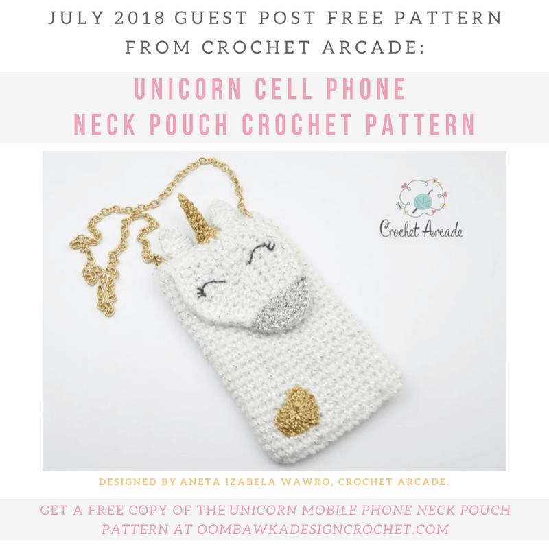 Unicorn Cell Phone Neck Pouch Crochet Pattern | Crochet unicorn free ...