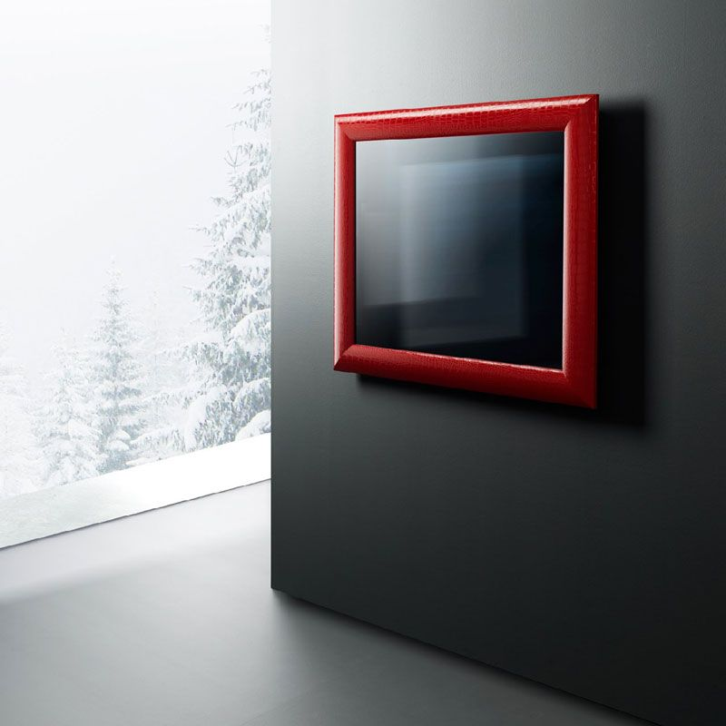 functional television with the greatness of making life easier and simpler awesome red frame functional television design grey wall cabinet door - Picture Frame Design Ideas