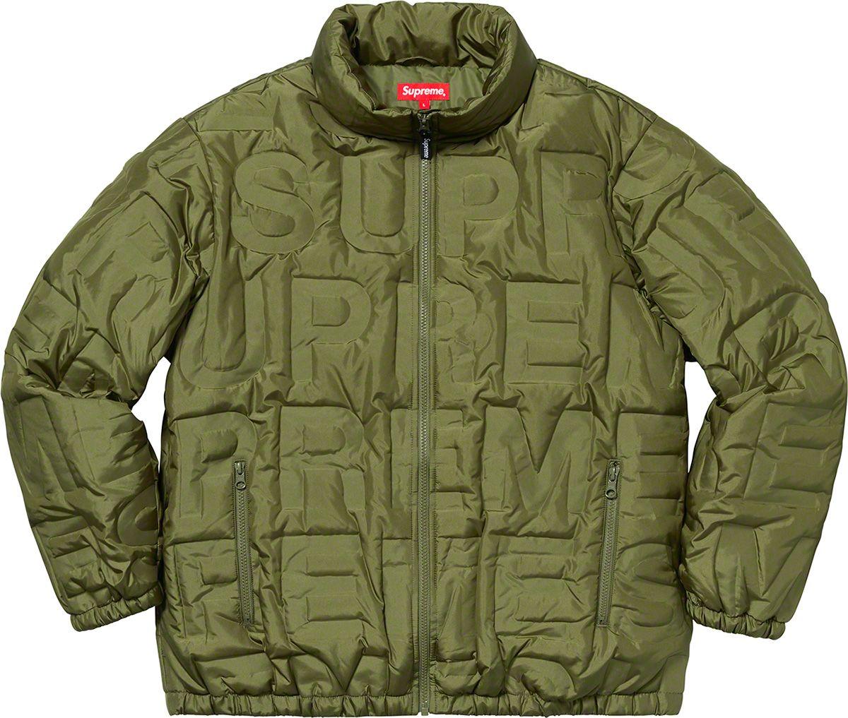 Supreme Bonded Logo Puffy Jacket Puffy Jacket Jackets Bomber Jacket [ 1017 x 1200 Pixel ]