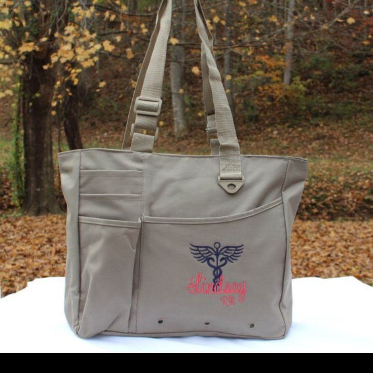 Perfect gift for nurses!! Custom Nurse Bag with Caduceus Nursing RN ...
