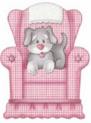 Dog In Chair Cute Animal Clipart Dog Scrapbook Cute Drawings