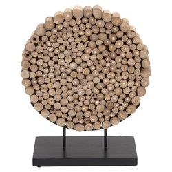 Round Shaped Klaten Stand Sculpture in Natural