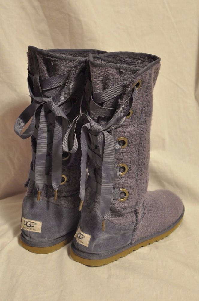 Winter Boots Grey Lilac Size