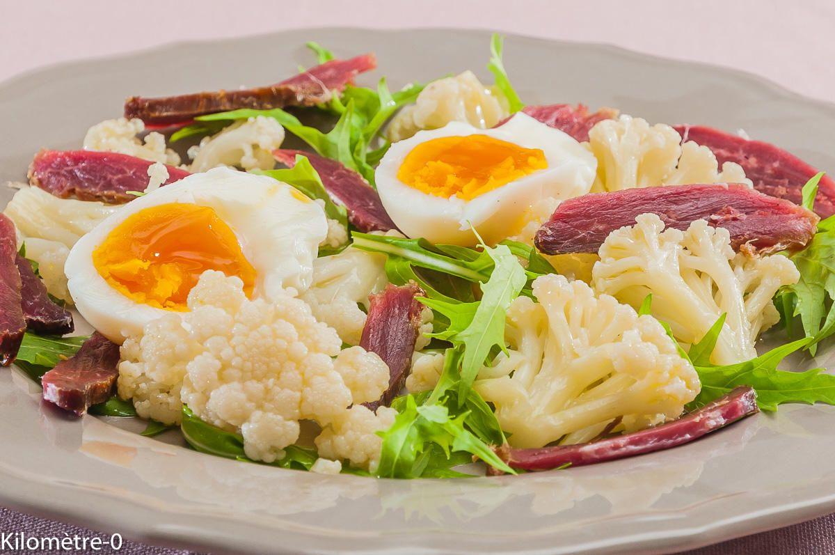 Salade de chou fleur au canard fumé | Recette | Salade ...