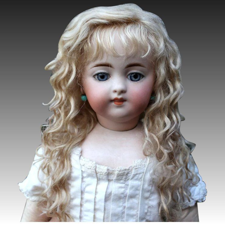 Grace~ Light Ash blond Mohair Wig with Extensions, Size 12-13 #lightashblonde