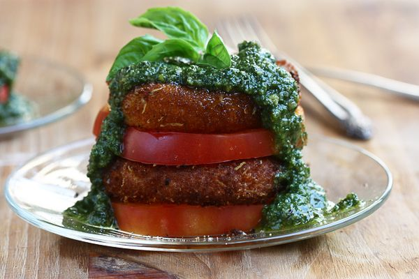 Fried Mozzarella Caprese Salad  @acozykitchen.com