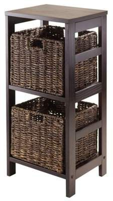 Winsome Wood Granville 3-PC Storage Set, Shelf & 2 Corn ...