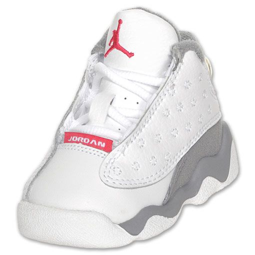 Girls  Toddler Air Jordan Retro 13 Basketball Shoes White Spark Stealth b11f8a87b