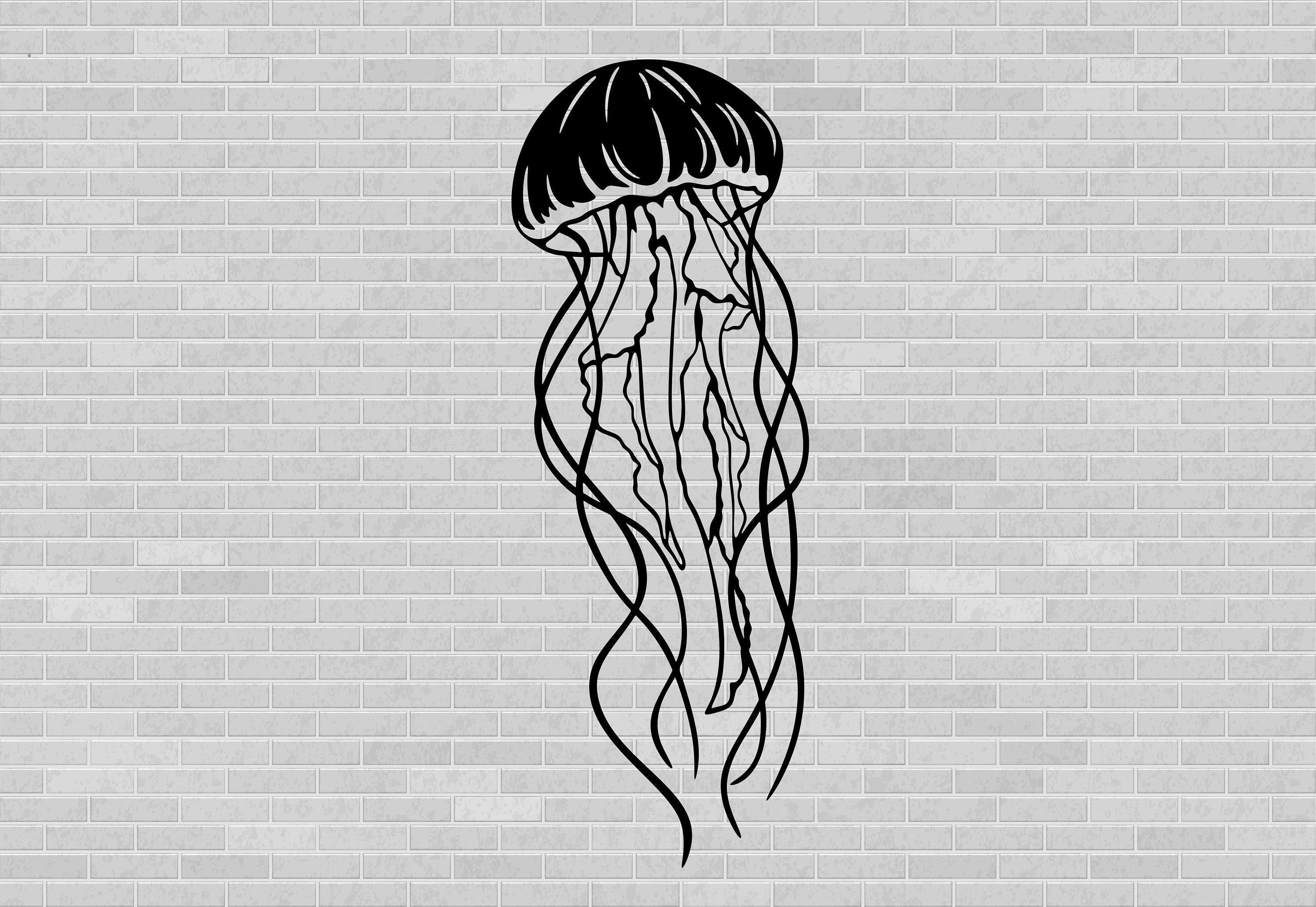 Jellyfish Svg Jellyfish Clipart Png File Dxf Files For Cnc Etsy In 2020 Jellyfish Design Jellyfish Print Jellyfish Light