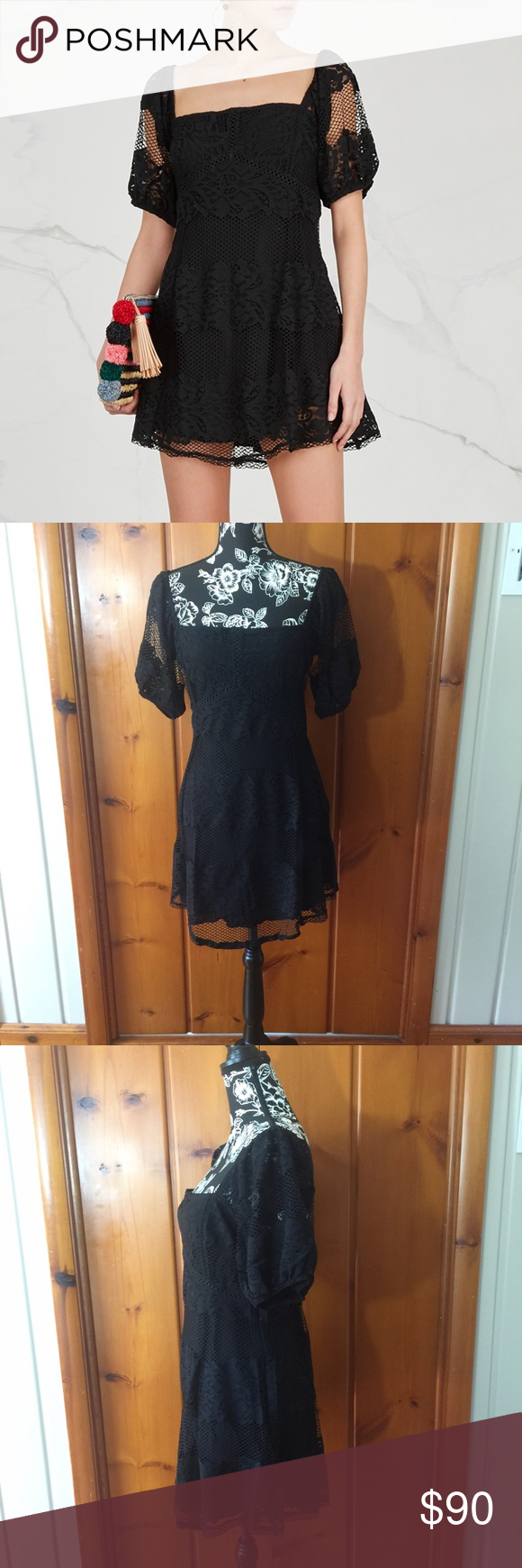 ea204de4e9af NWT FREE PEOPLE BE YOUR BABY LACE MINI DRESS FREE PEOPLE BE YOUR BABY LACE  MINI DRESS NWT Size Large Free People Dresses Mini