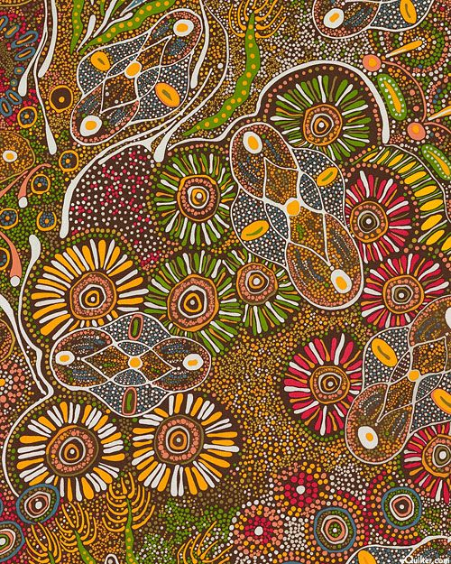 Australian Import - Bush Tucker After Rain - Quilt Fabrics from ... : online quilting fabric stores australia - Adamdwight.com