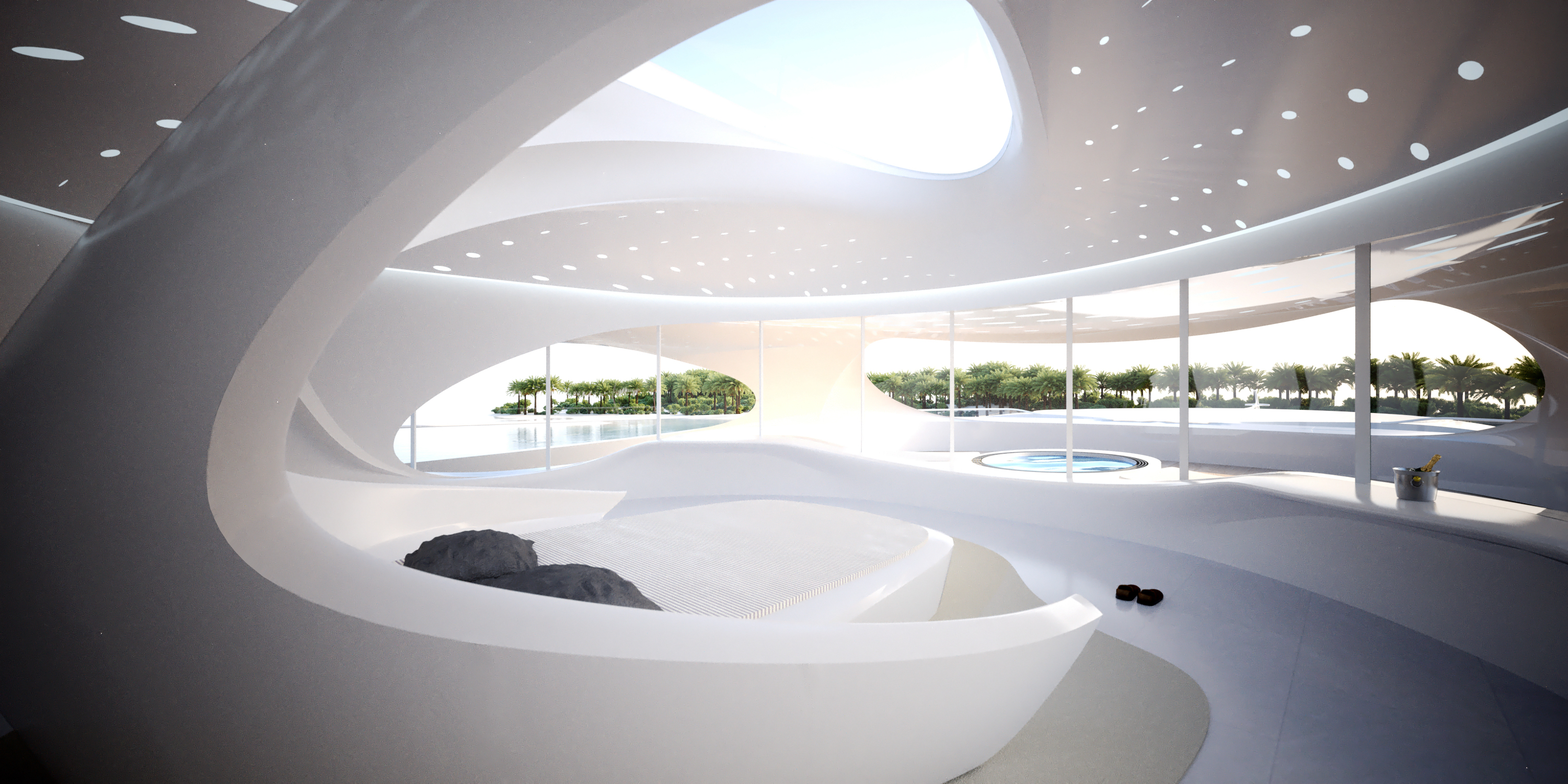 Zaha hadid superyacht interior google search ideas to for Interior design zaha hadid