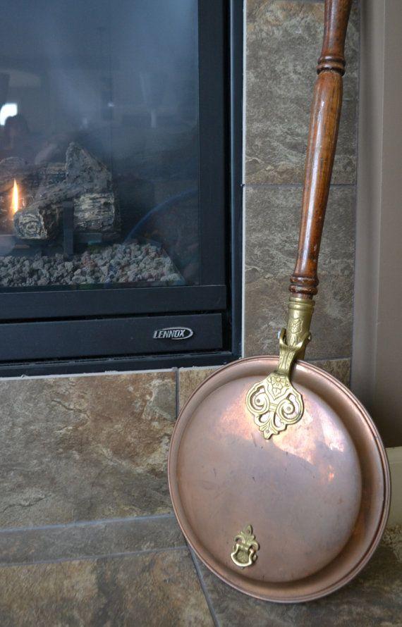 Antique Brass Bed Warmer Vintage Copper Brass Bed Warmer W