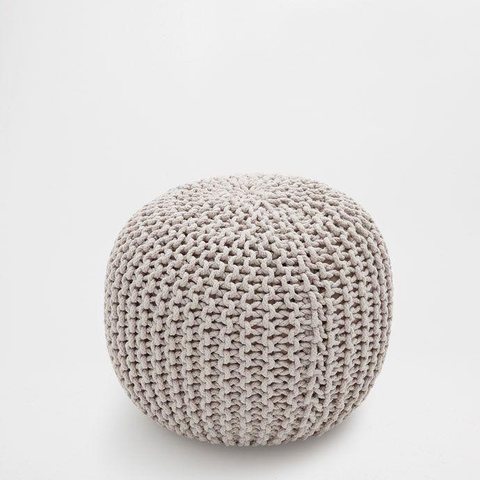 Zara Home - Puff redondo trenzado - 50x50x40cm - 59.99€ | Habitacion ...