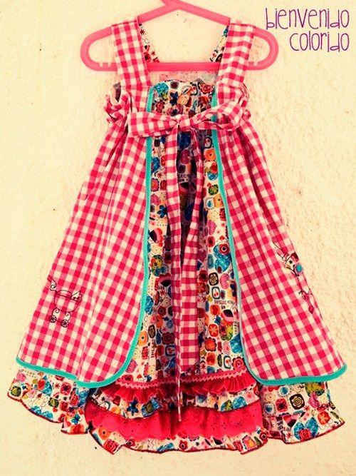 FeliZ Kleid Schnittmuster Mädchen nähen farbenmix | Kenna\'s Kloset ...