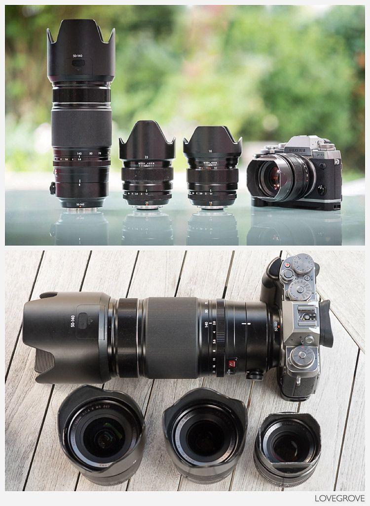 The lenses and camera in Damien Lovegrove's bag