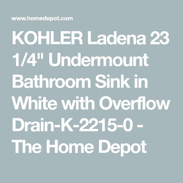 Ladena 23 1 4 Undermount Bathroom Sink In White With Overflow Drain Undermount Bathroom Sink Sink Lowes Bathroom Sinks