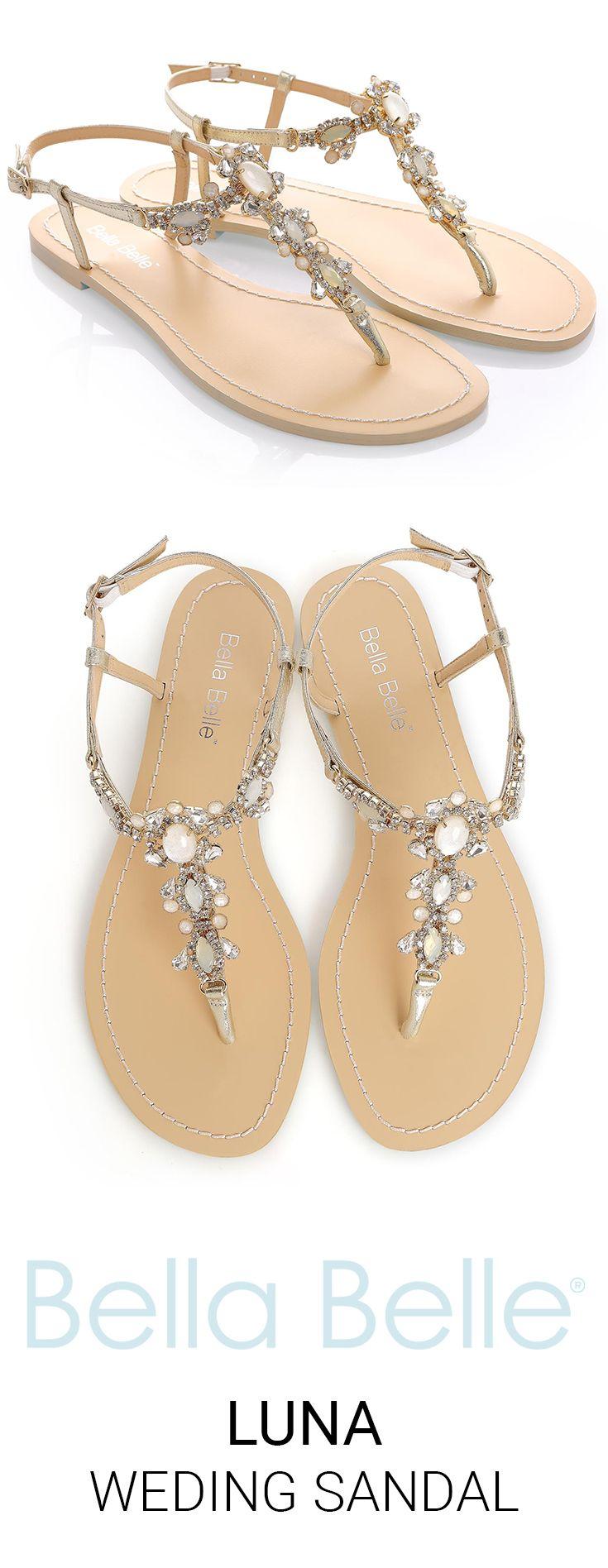623c6289b3682 Crystal Jewel Gold Dress Sandals in 2019